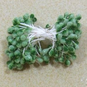Flower stamen, green, 100  pieces, 6cm, (st363)